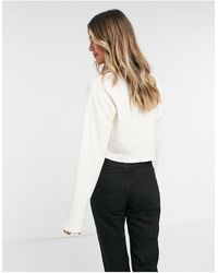 TOPSHOP Fluffy Ribbed Cardigan - Multicolour