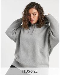 Nike Mini Swoosh Oversized Hoodie - Grey