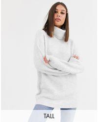 New Look - Светло-серая Свободная Водолазка -серый - Lyst