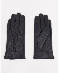 Barneys Originals Barney's Originals Real Leather Gloves With Stud Detail - Black