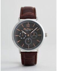 Ben Sherman - Bs011ebr Chronograph Watch In Brown - Lyst