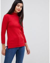 French Connection - Molly Mozart High Neck Waffle Knit Jumper - Lyst