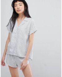 Calvin Klein - Button Down Night Shirt - Lyst