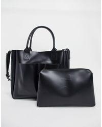 Claudia Canova Unlined Grab Bag-black