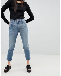 Cheap Monday Revive Straight Cropped Jeans - Blue