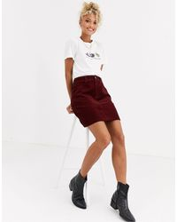 New Look Pocket Detail Cord Mini Skirt - Red