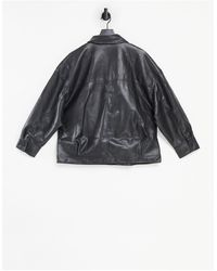 Threadbare Maya Pu Trucker Jacket - Black