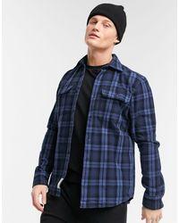 Jack & Jones Premium Overshirt With Chest Pockets - Blue