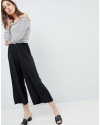 ASOS - Design Tailored Easy Elasticated Waist Soft Culottes - Lyst
