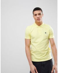 SELECTED - Polo With Badge - Lyst