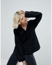 Weekday - Collarless Shirt - Lyst
