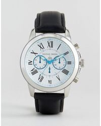 Racing Green - Black Watch With Imitation Inner Dials And White Dial - Lyst