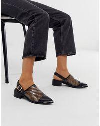 ASOS Maze - Scarpe basse con cinturino posteriore nere - Nero