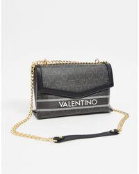 Valentino By Mario Valentino Babila Logo Cross Body With Chain Strap - Black