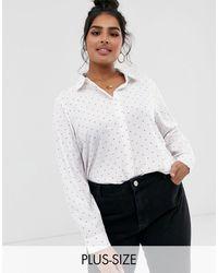 Brave Soul Camicia con stampa a cuori - Bianco