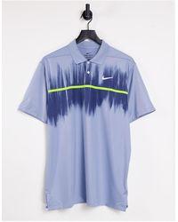 Nike Vapor Polo Fog Print - Blue