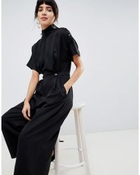 ASOS - Jumpsuit With High Neck - Lyst