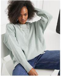 Abercrombie & Fitch Mock Neck Long Sleeve Jumper - Green