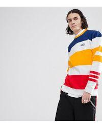 Vans - Sweatshirt In Multi Colour Stripe In White Exclusive To Asos - Lyst