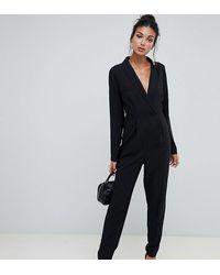 ASOS Asos Design Tall Tux Jumpsuit - Black