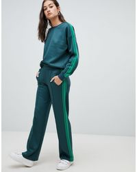 ONLY Side Stripe Trackpant - Green