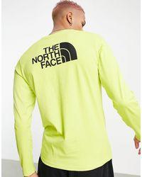 The North Face Желтый Лонгслив Easy - Зеленый
