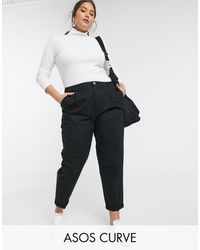 ASOS Asos Design Curve Chino Trousers - Black