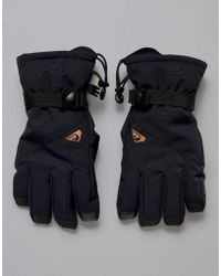 Quiksilver Mission Ski Gloves In Black