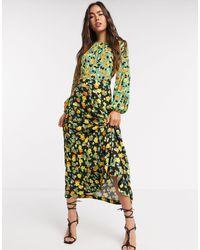 Closet Print Midi Dress - Green