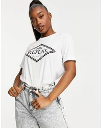 Replay Logo T-shirt - White