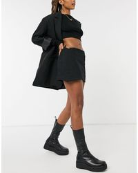 Weekday Sia Wrap Mini Skirt - Black