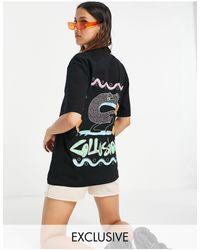 Collusion T-shirt oversize style années 80 avec imprimé C - Noir