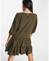 AX Paris Ярусное Свободное Платье Оливкового Цвета -зеленый Цвет