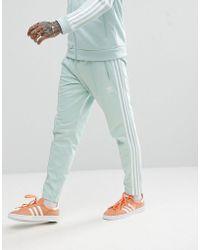 adidas Originals - Adicolor Beckenbauer Joggers In Skinny Fit In Blue Cw1272 - Lyst