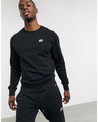 New Balance - Черный Свитшот С Маленьким Логотипом -черный Цвет - Lyst