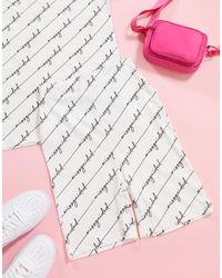 Missguided Co-ord legging Short With Script Print - Multicolour