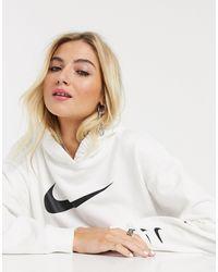 Nike Te Oversized Hoodie Met Drie Logo's - Wit