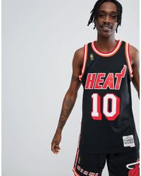 Mitchell & Ness - Nba Miami Heat Swingman Tank In Black - Lyst