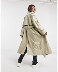 Mango Belted Trench Coat - Natural