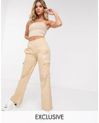 PUMA Cargo Wide Leg Pants - Grey