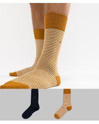 Tommy Hilfiger - 2 Pack Socks In Stripe - Lyst