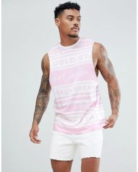 26d681b170207 Asos Super Longline Sleeveless T-shirt With Dropped Armhole And Step ...