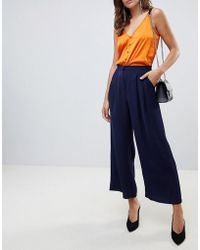 Y.A.S - Textured Wide Leg Trouser - Lyst