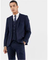 Heart & Dagger Skinny Suit Jacket - Blue
