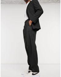 ASOS High Waist Slim Smart Pants - Black