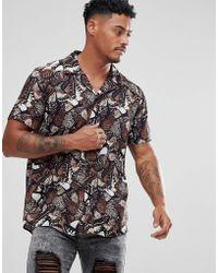 SIKSILK - Shirt In Butterfly Print - Lyst