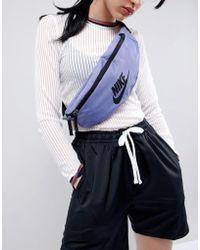 Nike - Logo Bumbag In Purple - Lyst