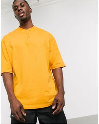 ASOS Oversized T-shirt With Grandad Neck - Multicolor