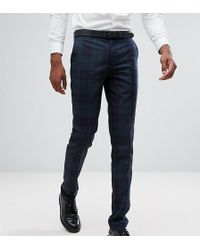 Farah - Tall Skinny Suit Trousers In Check - Lyst