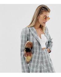 Reclaimed (vintage) - Inspired Blazer In Check Print - Lyst